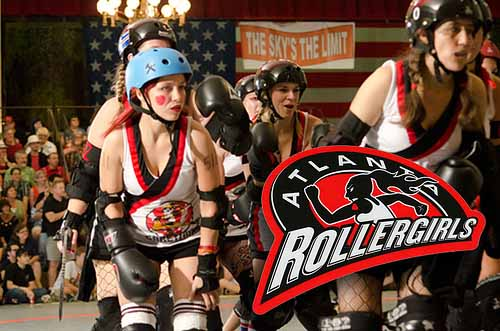Custom Shaped Kiss Cut Stickers for the Atlanta Rollergirls