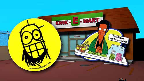 Yellow-StickerGiant-Stickers-with-Simpsons-Background