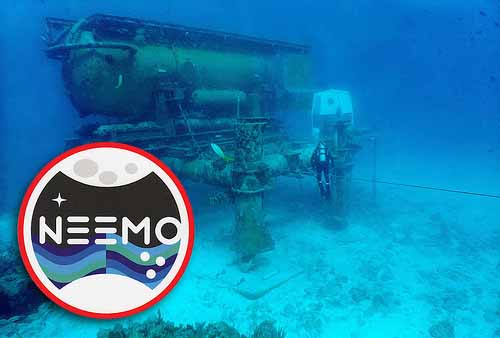 Circle Stickers for NEEMO with Sunken Ship in the Background
