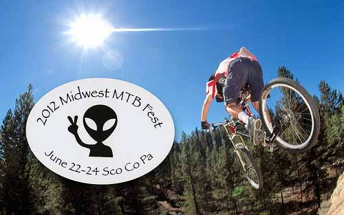 Custom Oval Bumper Stickers for the 2012 Midwest MTB Fest that were printed by StickerGiant