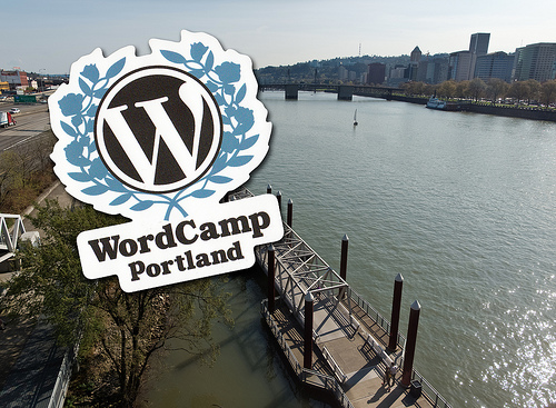WordCamp-Portland-Custom-Stickers-Sponsored-by-StickerGiant