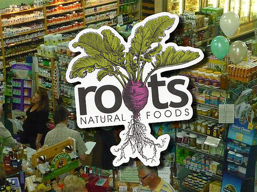 Custom-Die-Cut-Sticker-for-Roots-Natural-Food-Stores
