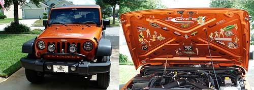 Orange-Jeep-with-Stickers-Under-the-Hood