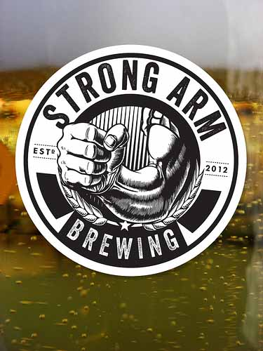 Circle-Logo-Stickers-for-Strong-Arm-Brewing