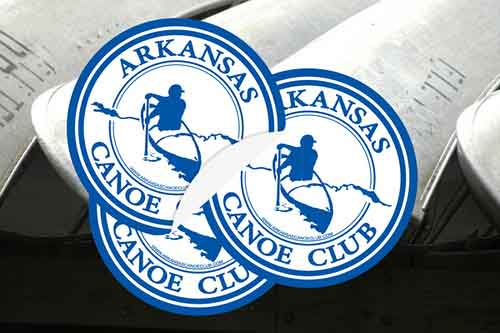 Custom Circle Stickers for Arkansas Canoe Club printed by StickerGiant