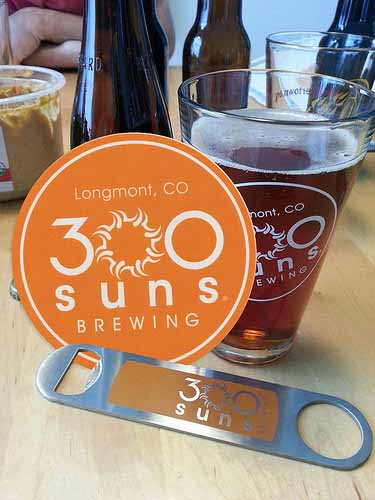 300-Suns-Brewery-in-Longmont-CO-Custom-Circle-Logo-Stickers