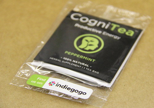 Custom Printed Sticker Labels for CogniTea printed by StickerGiant
