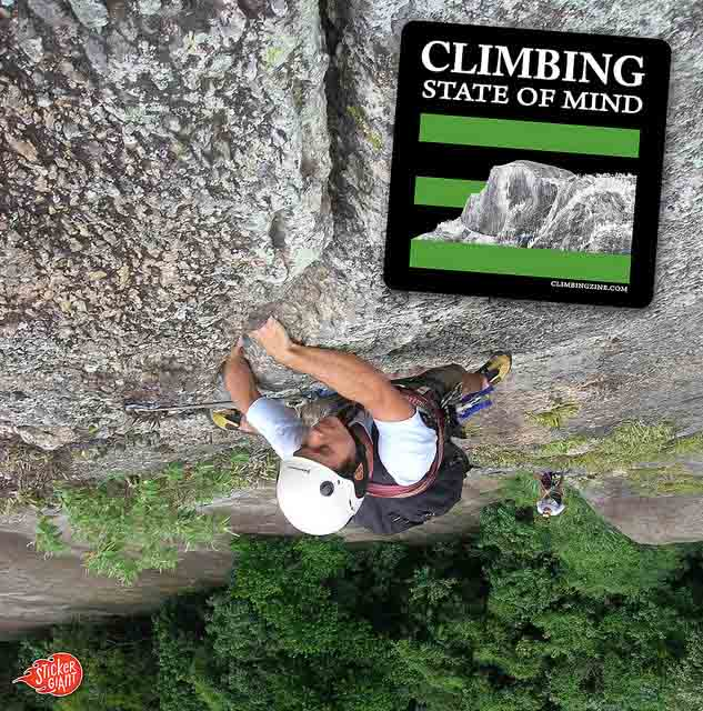 Climbing-State-of-Mind-Custom-Sticker-with-Rock-Climber-in-Background