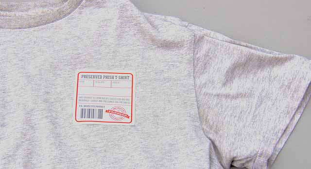 Custom Self Adhesive Tshirt Labels from StickerGiant
