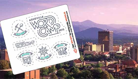 StickerGiant WordCamp Asheville 2015 Sticker Sheet