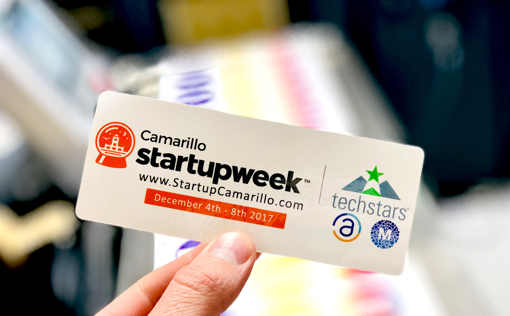Camarillo Startup Week 2017 Die Cut Sticker