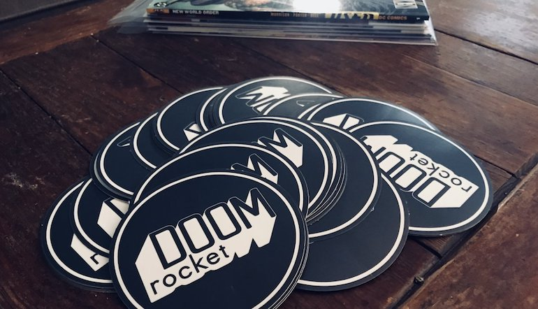 Doom-Rocket-Comic-Books-Custom-Logo-Stickers-2018