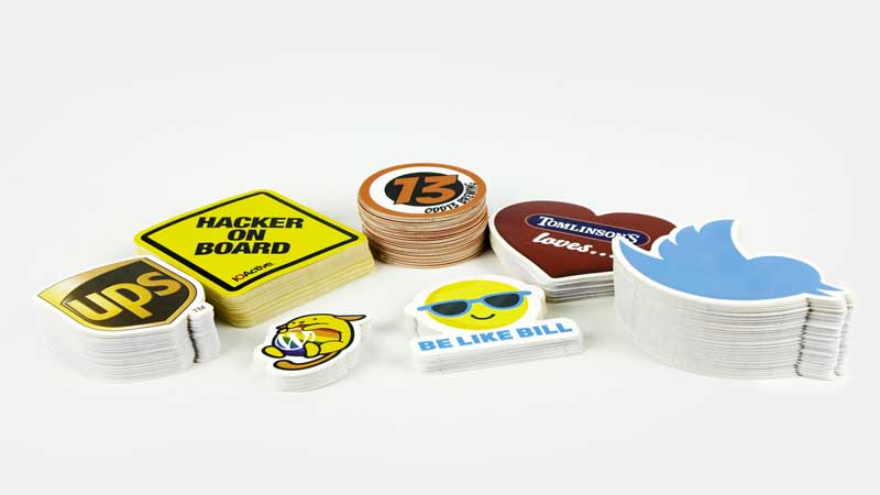 Custom shaped stickers printed by StickerGiant