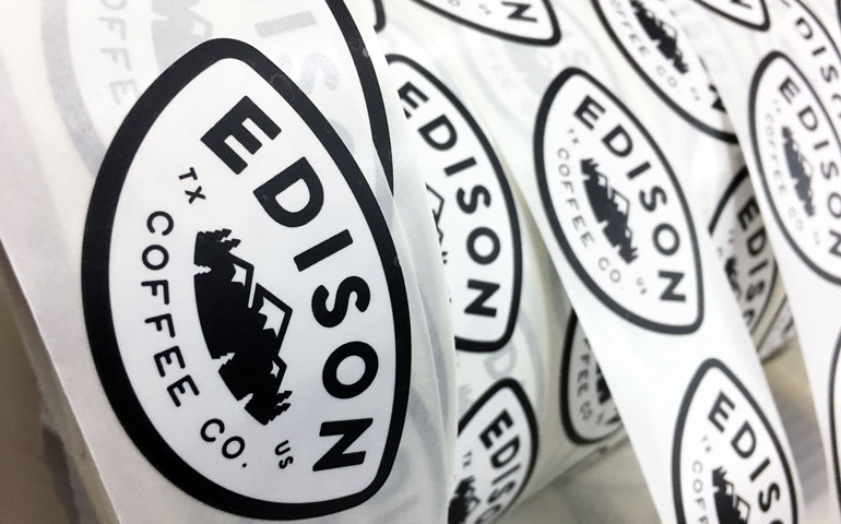 StickerGiant-Edison-Coffee-Co-Matte-Labels-on-a-roll-2018