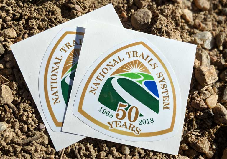 Commemorative stickers celebrate 50 years of national trails
