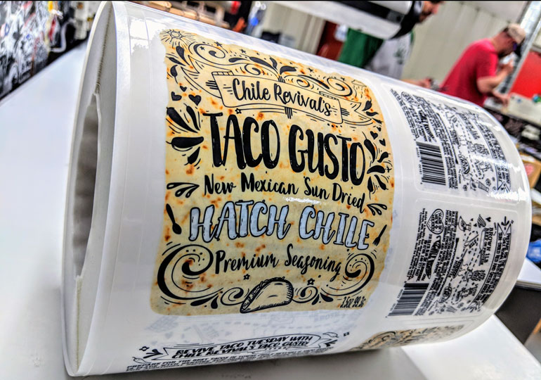 Chile revival clear labels help brand taco gusto seasoning products