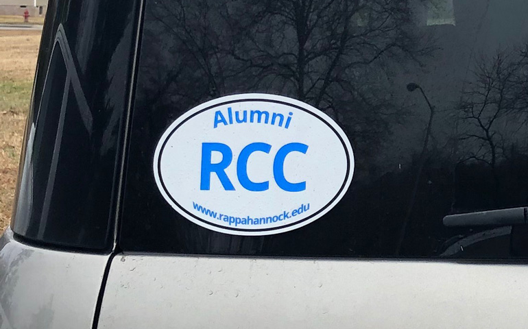StickerGiant-Rappahannock-Community-College-Car-with-static-cling-decal-2019
