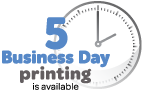 Five day business printing available