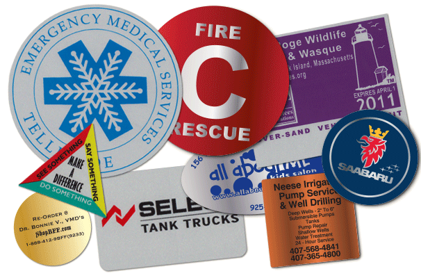 reflective and safety sticker examples