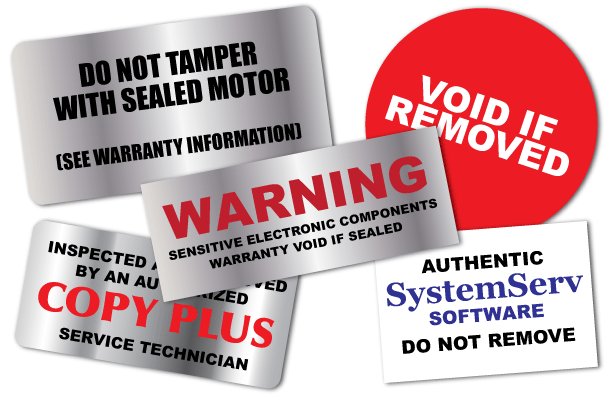 examples of tamper evident labels